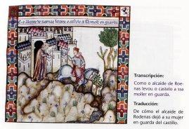 De cómo el alcaide de Rodenas dejó a su mujer en guarda del castillo