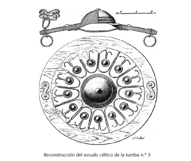 Reproducción de escudo céltico (Griegos)