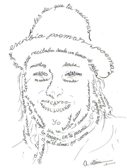 Caligrama de Maite Joven (A. Villén)