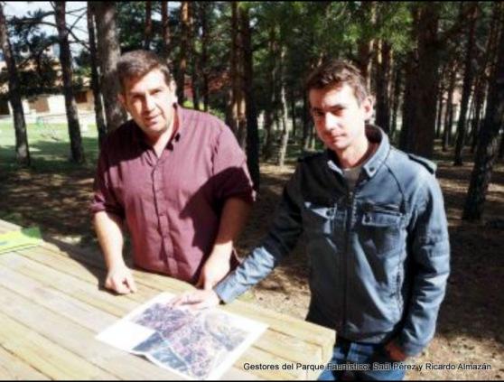 Gestores del Parque Faunístico, Saúl Pérez y Ricardo Almazán